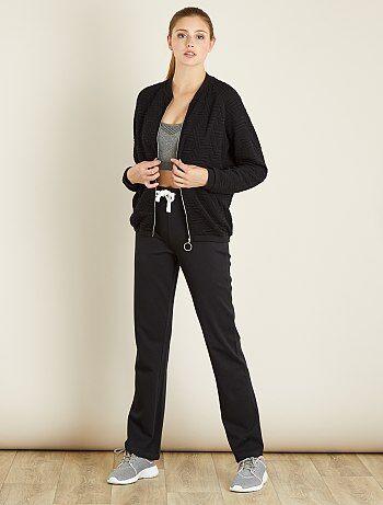 Femme du 34 au 48 - Pantalon sport coton molletonné - Kiabi
