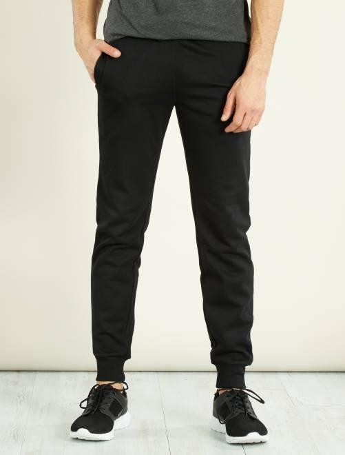 pantalon sport en molleton homme noir kiabi 10 00. Black Bedroom Furniture Sets. Home Design Ideas