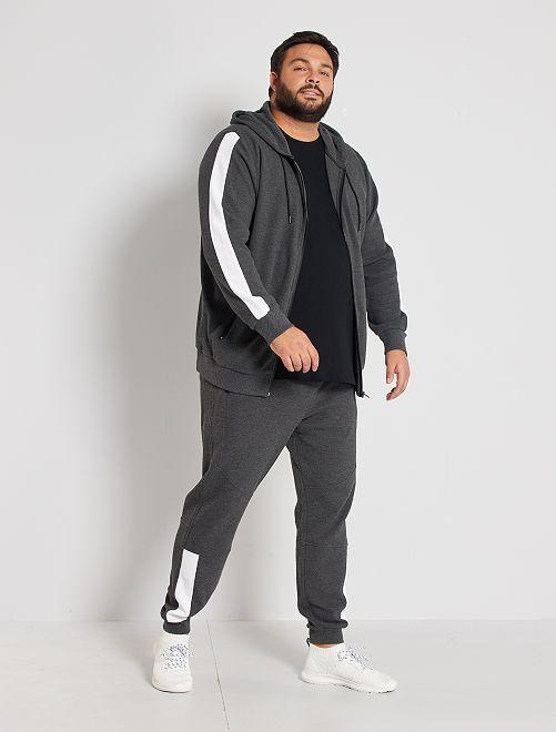 Pantalon sport en piqué                             gris