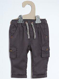 Garçon 0-36 mois Pantalon style cargo en twill