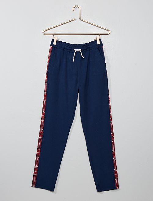 Pantalon style jogging avec bandes                                         bleu