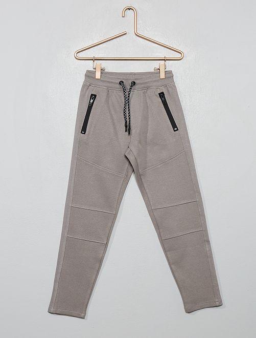 Pantalon style jogging en molleton piqué                                                                 gris