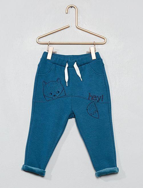 Pantalon style sarouel                                                                 bleu canard