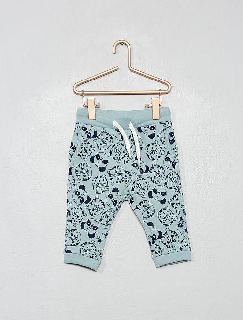 Pantalon style sarouel                                                                                         bleu ciel/bleu marine