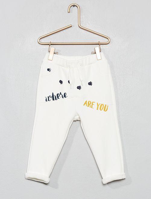 Pantalon style sarouel                                                                 écru