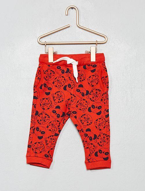 Pantalon style sarouel                                                                                         rouge/bleu marine