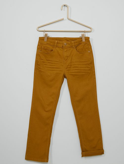 Pantalon super skinny stretch Enfant rond                                                                 jaune ocre