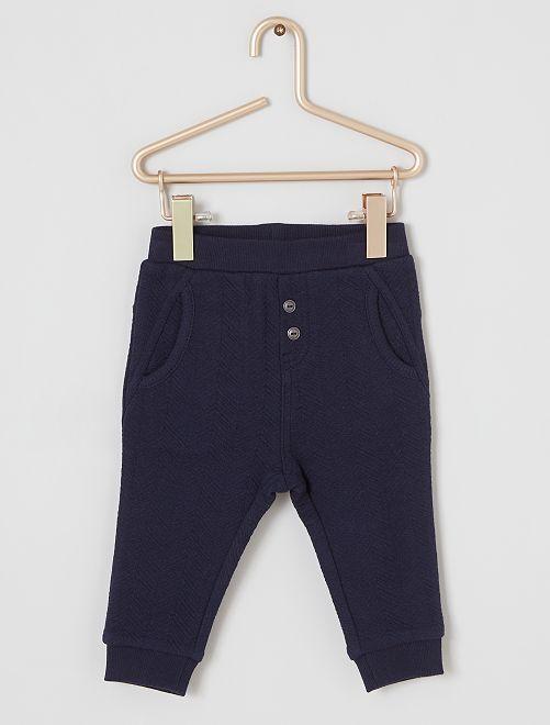 Pantalon texturé éco-conçu                                         marine