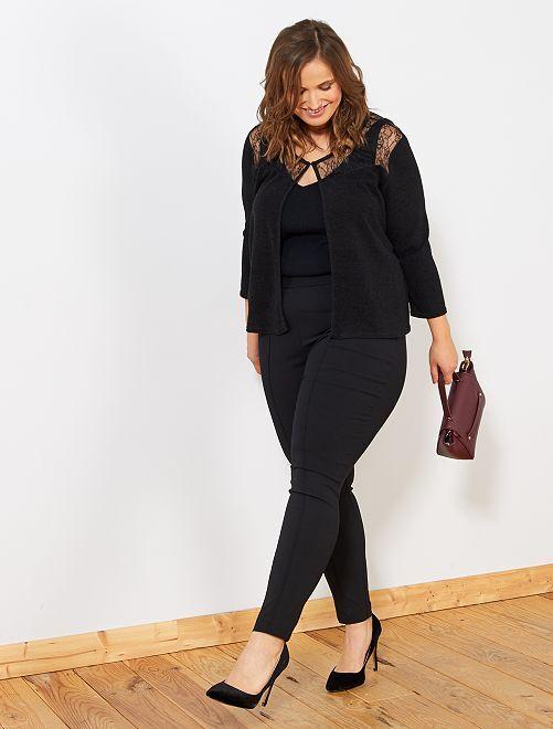 Pantalon toile skinny                                         noir