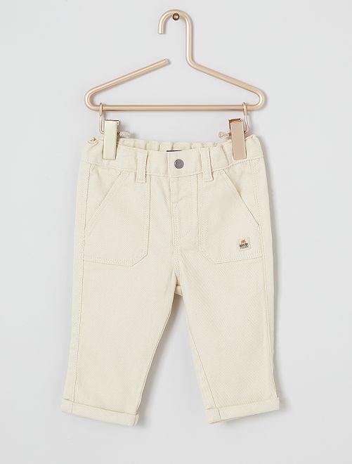 Pantalon twill éco-conçu                                                     beige clair