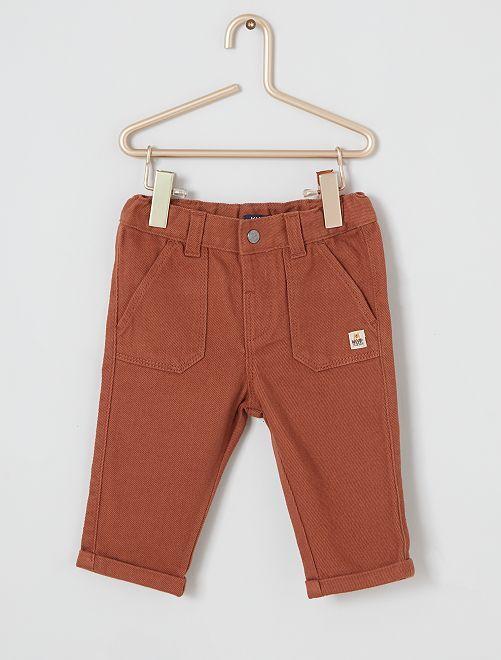 Pantalon twill éco-conçu                                                     brun