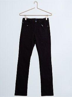 Garçon 10-18 ans Pantalon twill en coton stretch