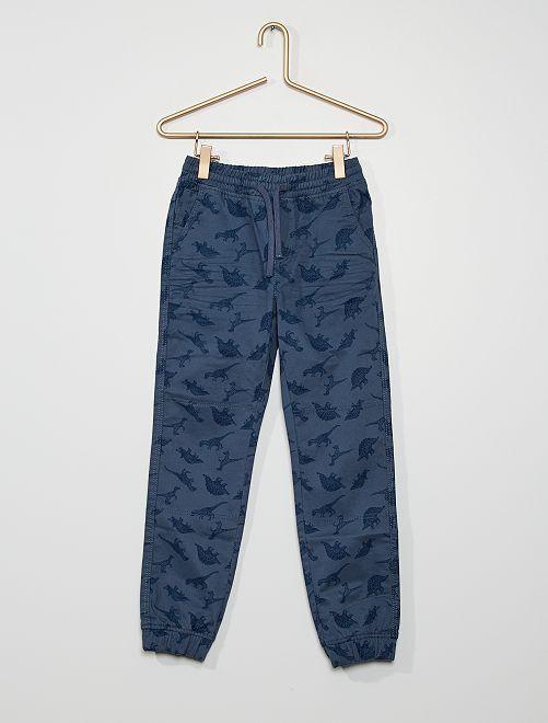 Pantalon twill Enfant fin                                                                 bleu