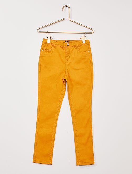 Pantalon twill Enfant rond                                                         JAUNE