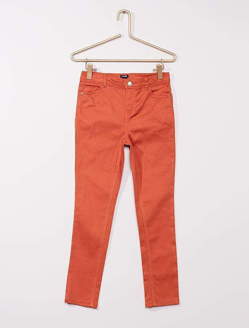 Pantalon twill Enfant rond                                                                 ORANGE