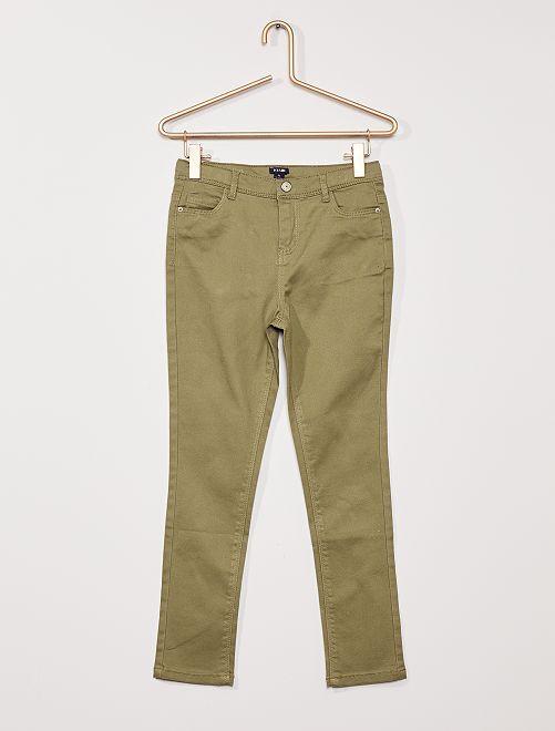 Pantalon twill Enfant rond                                                                 vert lichen