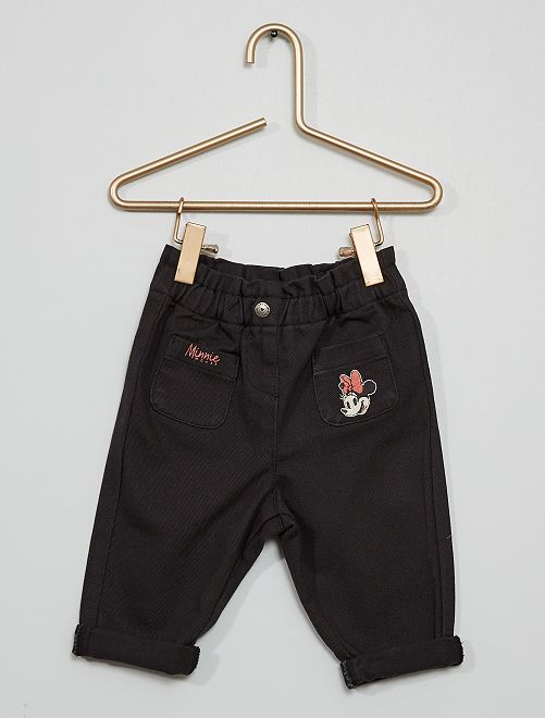 Pantalon twill 'Minnie'                             noir