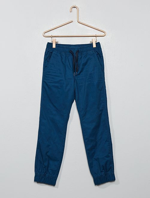 Pantalon type jogger                                                                 bleu