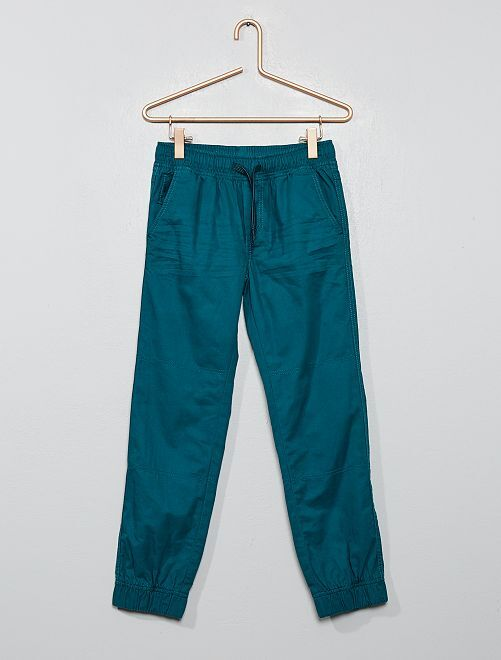 Pantalon type jogger                                                                 vert profond
