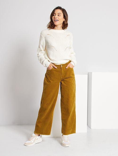 Pantalon velours côtelé 'JDY'                                                     moutarde