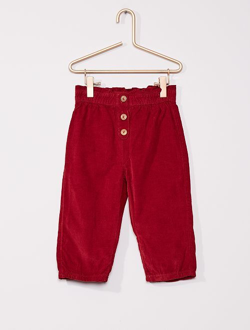 Pantalon velours                                         rouge bordeaux