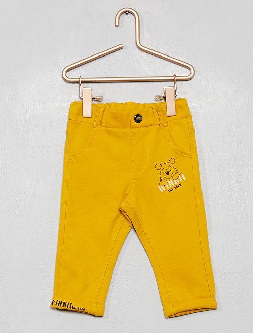 Pantalon 'Winnie' en molleton fourré                                         jaune