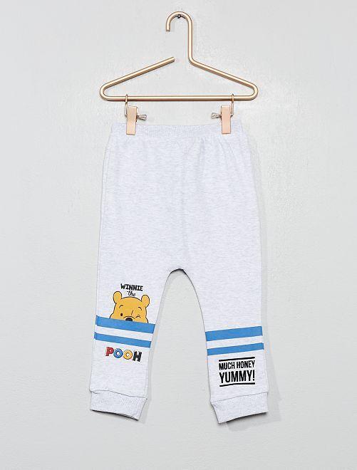 Pantalon 'Winnie l'Ourson' forme sarouel                             gris chiné