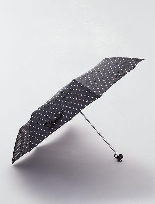 Parapluie à pois                                          noir étoiles