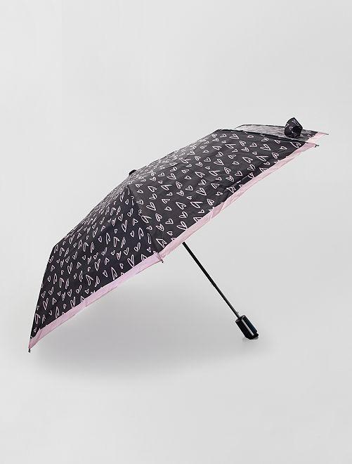 Parapluie automatique                                                     noir coeur