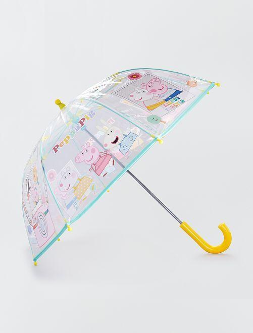 Parapluie en plastique transparent 'Peppa Pig'                             jaune