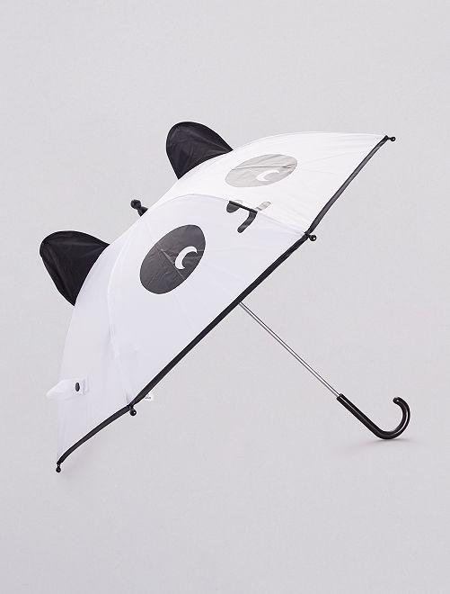 Parapluie forme de panda                             noir/blanc