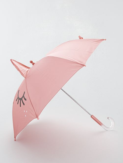 Parapluie imprimé 'chat'                             rose Fille