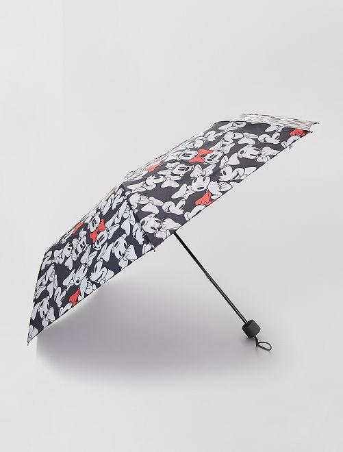 Parapluie pliable imprimé 'Mickey'                             noir