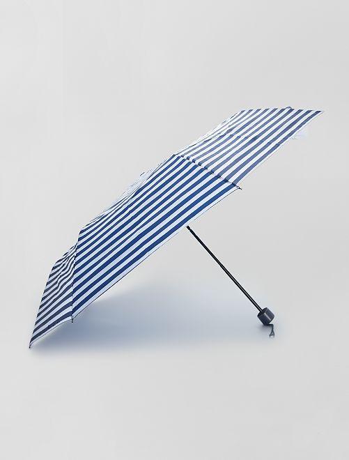 Parapluie pliant bleu marine                                                                                                                 rayé