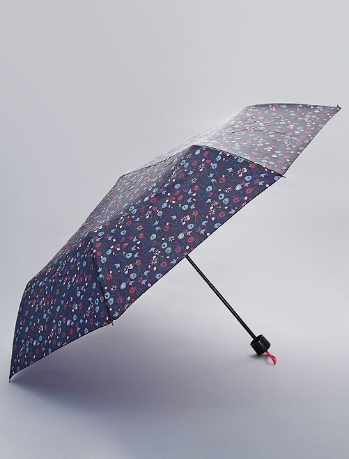 Parapluie pliant fleuri                                                                                                                                         imprimé fleuri