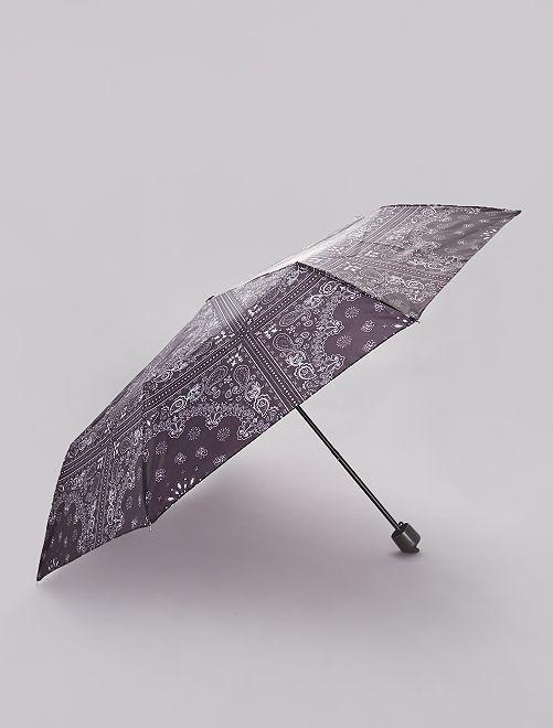 Parapluie pliant imprimé 'bandana'                                                     noire/bandana