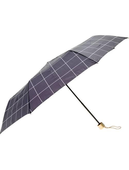 Parapluie pliant imprimé 'carreaux'                                                                                                                             noir carreaux