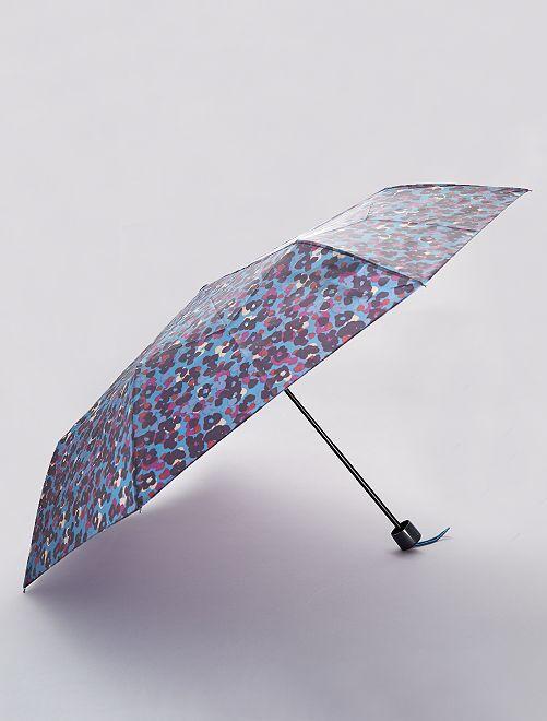 Parapluie pliant imprimé 'léopard'                                                                                                                 bleu/léopard