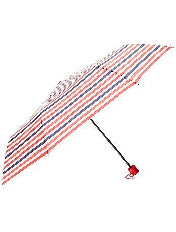 Parapluie pliant imprimé rayures