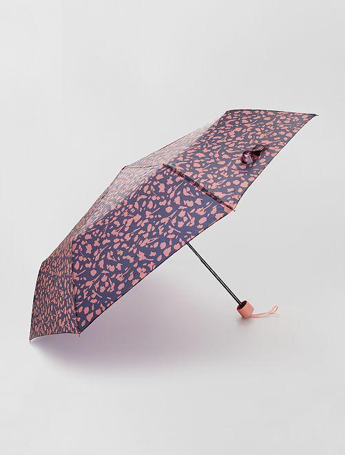 Parapluie pliant imprimé 'taches'                                                                                                                 noir/rose