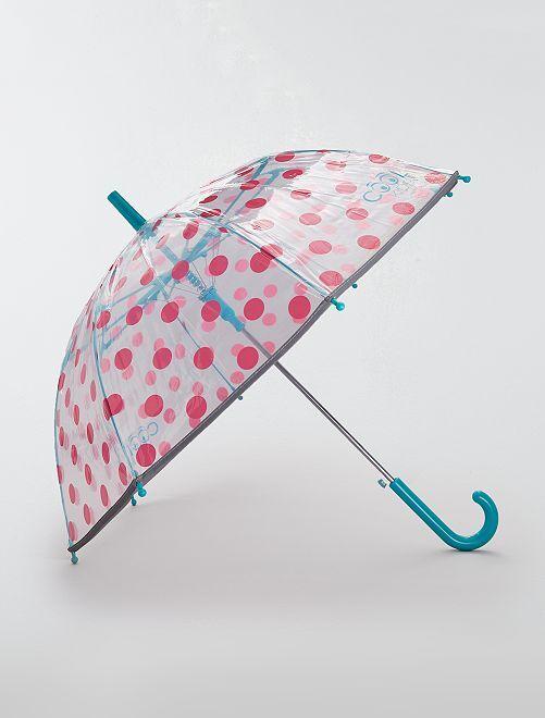 Parapluie transparent à 'pois'                             rose