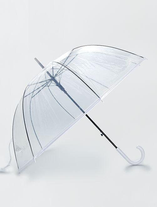 Parapluie transparent                                 blanc
