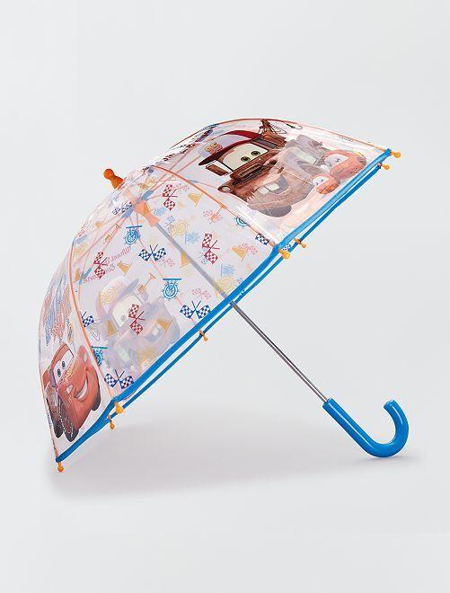 Parapluie transparent 'Cars'                             bleu