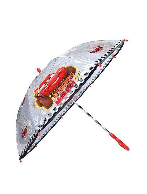 Parapluie transparent 'Cars'                             rouge/noir