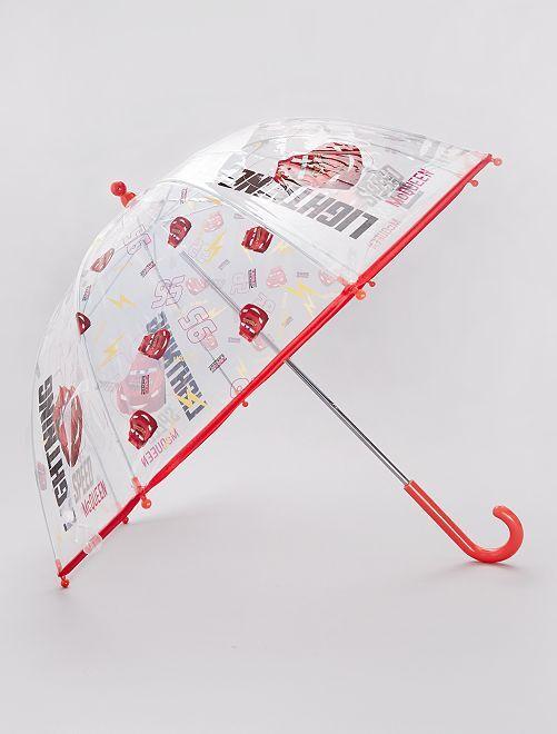 Parapluie transparent 'Cars'                             transparent/rouge