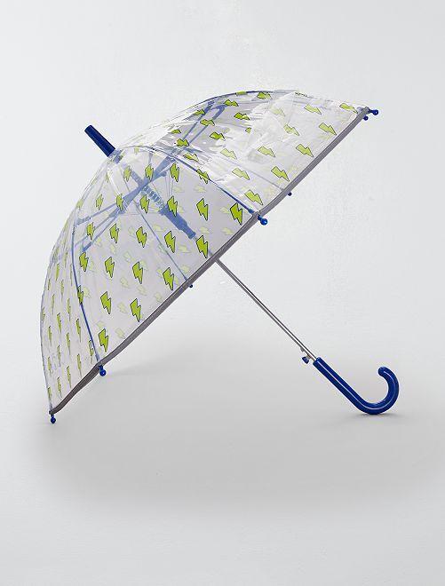 Parapluie transparent 'éclairs'                             jaune Garçon