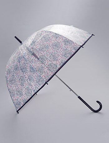 Parapluie transparent imprimé