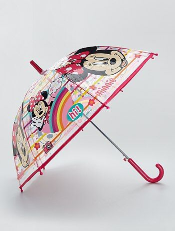 Parapluie transparent imprimé Minnie'