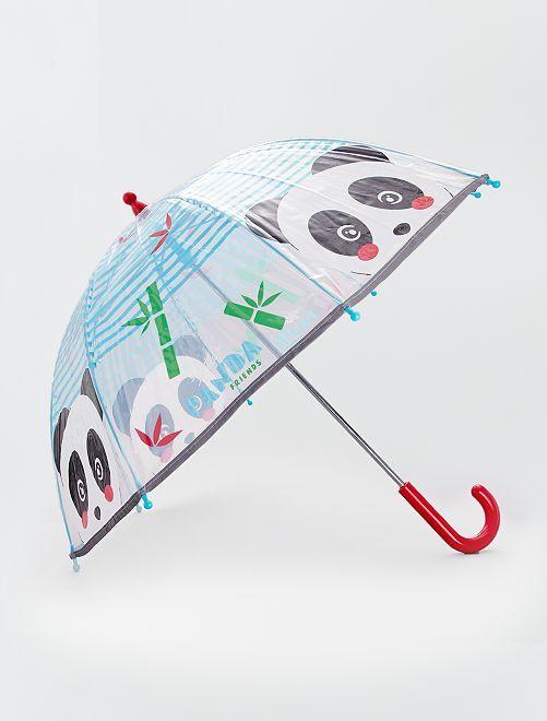 Parapluie transparent imprimé 'panda'                             transparent