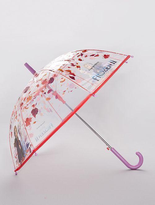 Parapluie transparent 'La Reine des Neiges 2'                             rose